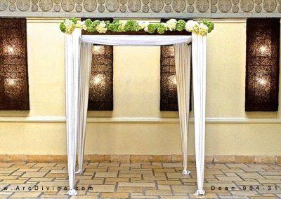 Elegance Wedding Canopy Chuppah Arch Rental with Florals in Miami, FL