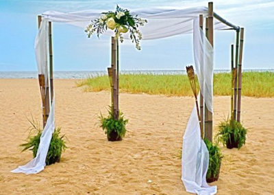 Bamboo Wedding Canopy Chuppa Arch Rental Ft Lauderdale South Beach Miami Beach Boca Raton FL