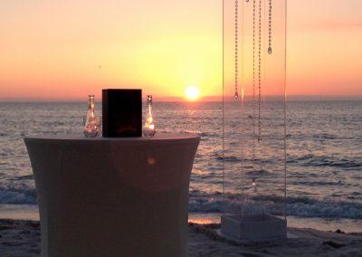 Acrylic Column & Ceremony Table Decor Wedding Rentals in South FL