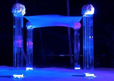 Acrylic Lucite Wedding Canopy Chuppah with Gem Strings