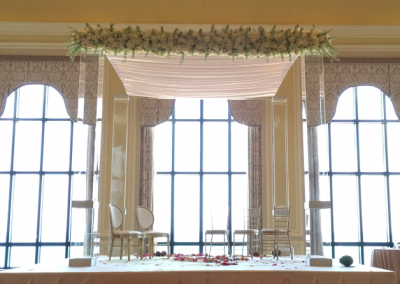 Acrylic 11' Tall Wedding Canopy Chuppah Altar Rental South FL
