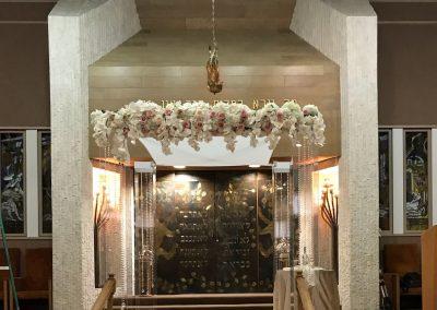 Acrylic Wedding Chuppah Chutzpah Canopy with Floral Top and Gem Strings