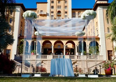 Ultra Modern and Contemporary Acrylic Plexiglass Canopy/Chuppah by Arc Divine Miami at the Biltmore Coral Gables FL