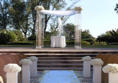 Chic: Modern Contemporary Acrylic Plexiglass Canopy/Chuppah Wedding Rentals at the Biltmore in Coral Gables FL