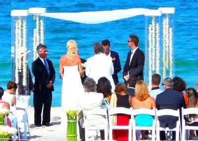 Acrylic Lucite Plexiglass Chuppah Canopy Mandap Wedding Rental at the Marriott Harbour Ft. Lauderdale Miami
