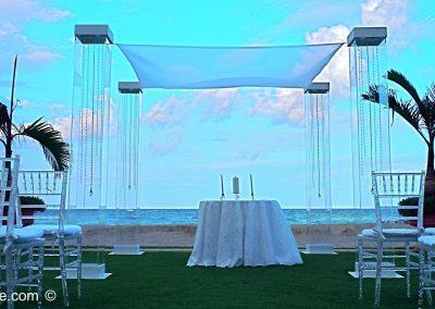 Acrylic Wedding Canopy Chuppah Altar Mandap Purowa Acqualina Spa Resort Sunny Isles FL