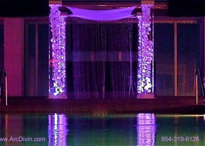 Acrylic Wedding Canopy Chuppah Altar Mandap Gem Curtain Strings Silk Orchids