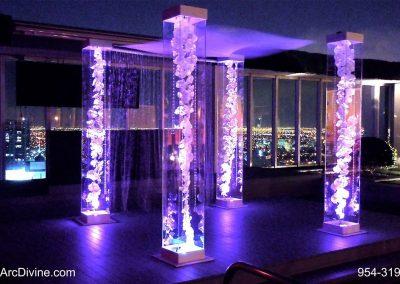 Acrylic Wedding Canopy Chuppah Altar Mandap Floral Gem Strings LED Lights