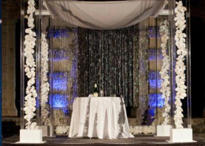 Acrylic Chuppah Chutzpah Wedding Canopy Rental at Vizcaya Miami FL