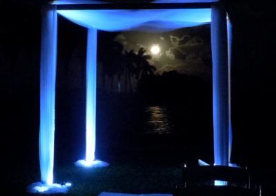 Modern Elegance Wedding Canopy Chuppah Altar Rental Miami South FL