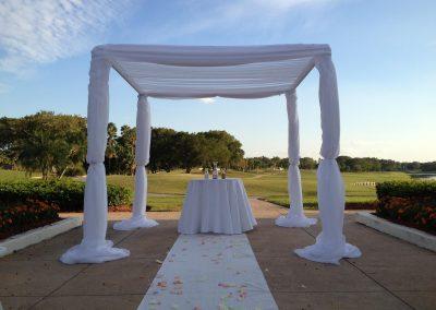 Classic Draped Wedding Canopy Chuppah Arch Rental Miami FL