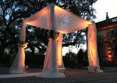 Classic Wedding Canopy Chuppah Altar Arch Rentals Miami FL