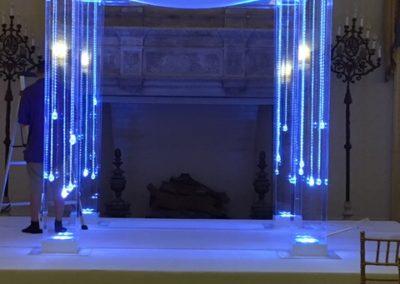 Acrylic Chuppah at the Breakers Hotel Gold Room added lights and gems