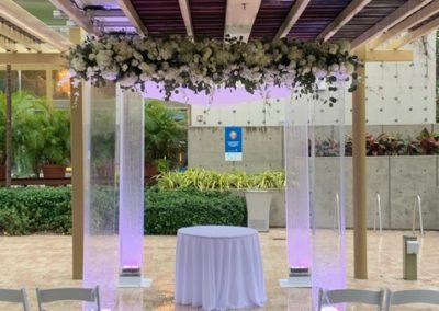 Acrylic Chuppah at the Palm Beach Pavilion