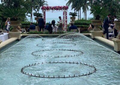 Acrylic Chuppah rental Miami Ritz Carlton Key Biscayne - Pretty in Pink 2