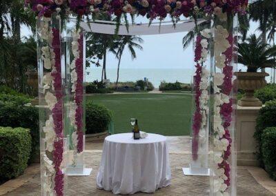 Acrylic Chuppah rental Miami Ritz Carlton Key Biscayne - Pretty in Pink