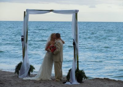Bamboo Wedding Arch Altar Rental at Westin Diplomat Hotel in Hollywood FL