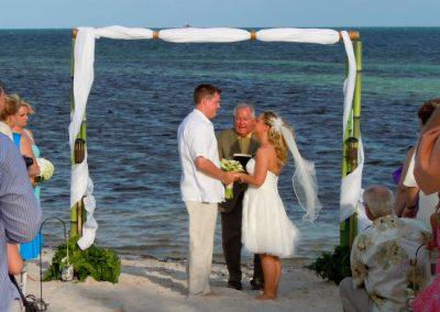 Bamboo Beach Wedding Arch Island Oasis Rental at Key West Smathers Beach FL