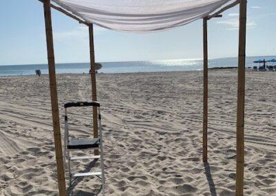 Bamboo Chuppah Ft Lauderdale Beach Wedding Rentals