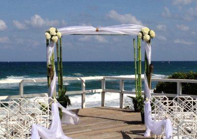 Bamboo Wedding Canopy Altar Chuppah  Mandap Pergola at Hillsboro Country Club Hillsboro Beach FL Miami Ft. Lauderdale Del Ray Sunny Isles Boca Raton Naples