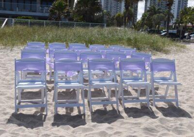 Beach chair rental with sashes