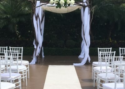 Branchy Chuppah at Lavan in Hollywood FL with carpet runner