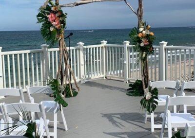 Branchy wedding arch Hillsboro club