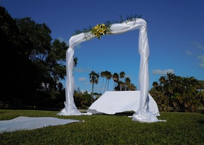 Classic Arch :: Sheer elegant draping that intimates 'timelessness' by ArcDivine Miami, Fairchild Botanical Gardens, Coral Gables FL