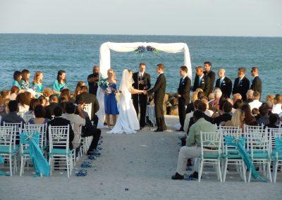 Classic Beach Wedding Arch Rentals at John U Lloyd State Park, Dania Beach FL