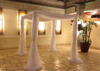 Classic Wedding Canopy Chuppah Altar Arch Rentals in Coconut Grove Miami FL