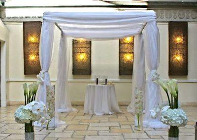 Classic Wedding Canopy Chuppah Altar Arch Rentals in South FL