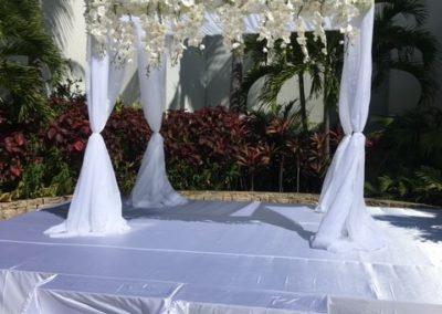 Classic Chuppah at B'nai Torah Boca Raton FL - before floral arrangements are added