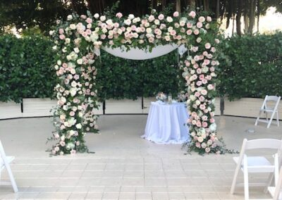 Classic Chuppah with Roof Only with added full fresh florals Coral Gables Country Club