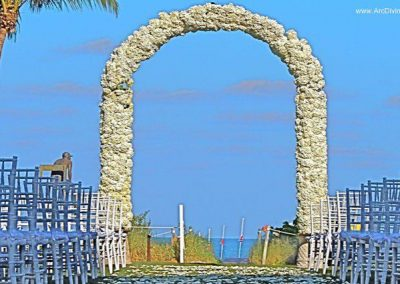 Full Floral Wrought Iron Wedding Arch Miami Flowers Arch Altar Rentals in South FL