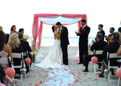 Classic :: Traditional Wedding Chuppah Canopy & Arch Rental by ArcDivine.com at the Newport Beachside Resort, South Beach