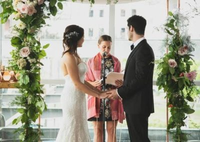 Copper Chuppah with Florals