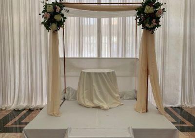 Copper Chuppah with Ivory Fabric