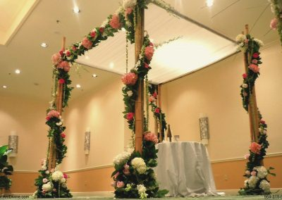 Bamboo Floral Wedding Chuppah Canopy at The Renaissance Hotel in Boca Raton, FL