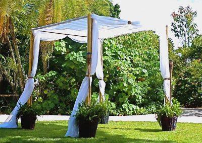 Bamboo Wedding Canopy Altar Chuppah Miami Botanical Gardens Miami Ft. Lauderdale Del Ray Sunny Isles Boca Raton Naples FL