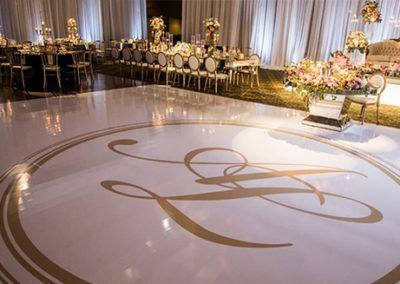 Dance Floor Wrap with initials