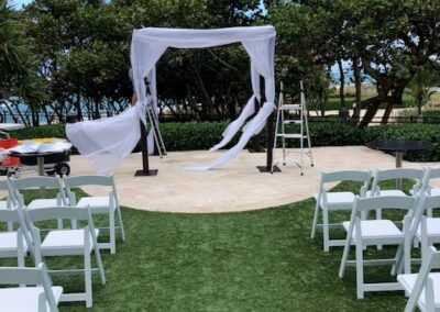 Where to rent a Wood wedding arch Chuppah