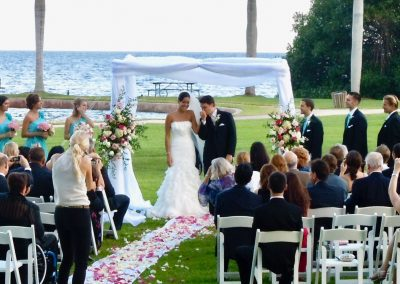 Traditional Classic Wedding Canopy Chuppah Altar Arch Rentals at Deering Estate, Coral Gables Miami FL