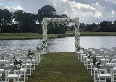 Faux Flower Arch Port St Lucie Trump Golf Resort