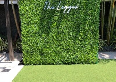 Grass wall 8x8 with LED name