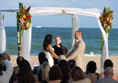 Tahitian 'Bamboo' Wedding Canopy Chuppah Arch Rental by ArcDivine.com at the Marriott West Palm Beach