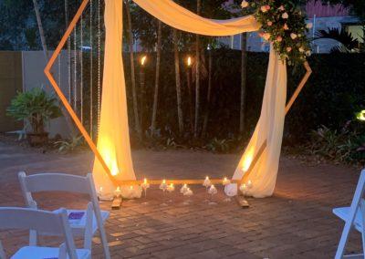 Hexagon wedding arch - Living Sanctuary