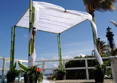 Bamboo Wedding Canopy Chuppah at Hillsboro Club FL