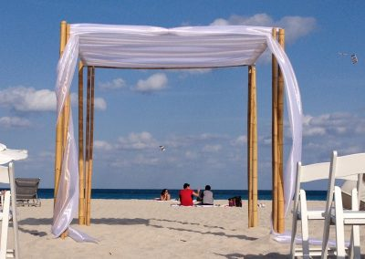 Tahitian 'Bamboo' :: Weddign Canopy Chuppah Arch Rental by ArcDivine.com at the National Hotel South Beach