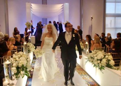 Chic :: Modern Acrylic Lucite Plexiglass Wedding Chuppah Canopy Rental by ArcDivine.com at Eden Roc Renaissance South Beach