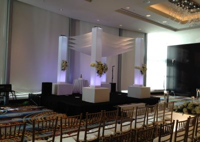 Acrylic Neo Moda Wedding Canopy Chuppah Rentals at Eden Roc South Beach Miami FL